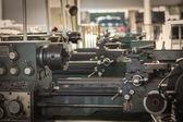 Old metal lathe machine — Stock Photo
