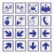 Metalic safety sign set — Stock Vector #83085218