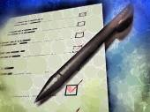 Pen laying on a check-list — Stock Photo