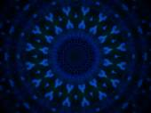 Geometric abstract blue pattern on black background — Stock Photo