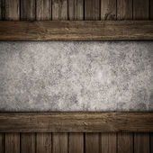 Wood and concrete plate background — Stock Photo