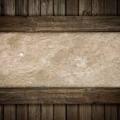Wood and concrete plate background — Foto de Stock
