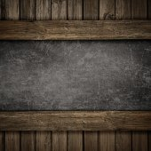 Wood and concrete plate background — ストック写真