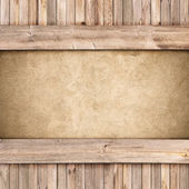 Wood and concrete background — Stock Photo