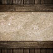 Holz und Beton Platte Hintergrund — Stockfoto