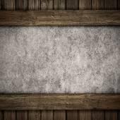 Ahşap ve beton plaka arka plan — Stok fotoğraf