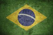 Brasil flag on the wall — Stock Photo