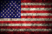 USA flag on the wall. United States of America — Stock Photo