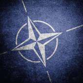 NATO flag on the wall — Stock Photo