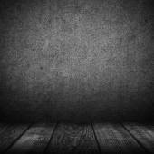 Fondo interno nero vuoto — Foto Stock