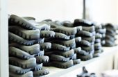 Rubber soles for footwear manufacturing — Stock Photo