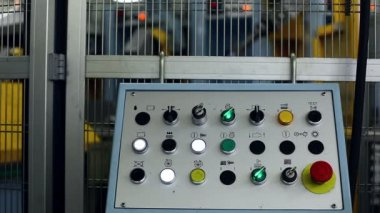 View of control panel flashing, close-up — Stock Video