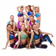 Charming young fitness girls posing at camera — Stock Photo #66025923