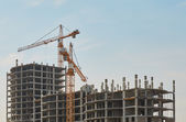 Construction of new apartment building — Stock Photo