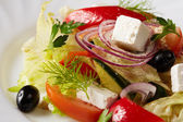 Traditional Greek salad. Mediterranean cuisine — Stock Photo