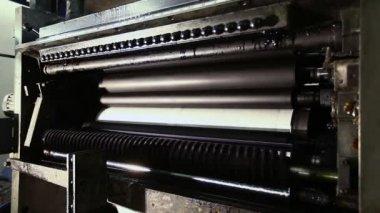 Printing establishment detail on production line — Stock Video