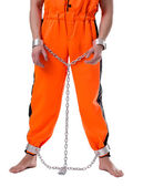 Prison concept. Image of lawbreaker handcuffed — Stock Photo