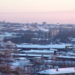 Panorama at winter city and termal power station — Stock Video #78307592