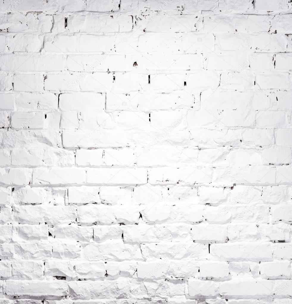 Texture de mur en briques blanchies la chaux photo for Poutres blanchies a la chaux