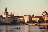 Vltava river embankment — Stock Photo