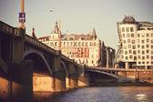 Argine del fiume vltava — Foto Stock