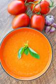 Bowl of tomato soup gaspacho — Foto de Stock