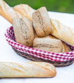 Baguette and bread — Stock Photo