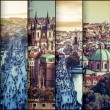 Collage photo view of the old town in Prague — Stock Photo #59320573