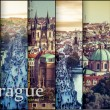 Collage photo of a beautiful view of the old town in Prague — Stock Photo #59320603