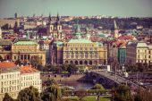 View of the old town with the Prague Castle — Stock Photo