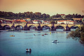 Charles Bridge and other sights in Prague — Stock Photo