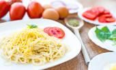 Spaghetti dinner — Stock Photo