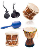 African drums and percussion — Stock Photo