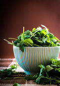 Rucola in bowl — Stock Photo