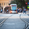 Tram and rails — Stock Photo #60433423