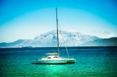 Yachts on azure sea water — Stock Photo
