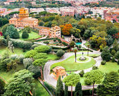Aerial view of Vatican Gardens — Stock Photo