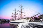 Gran nave hermosa — Foto de Stock