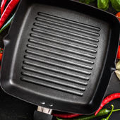 Cast iron griddle — Stock Photo