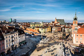 Castle Square in Warsaw — Stock Photo