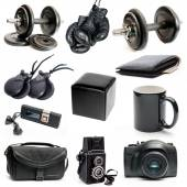 Different black objects — Stock Photo