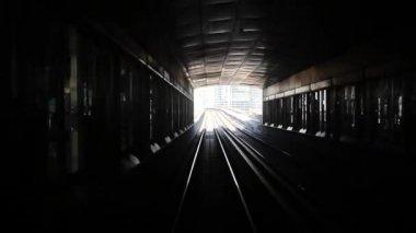 Dubai elevated Rail Metro — Stock Video