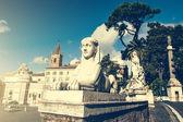 Piazza del Popolo — Foto de Stock