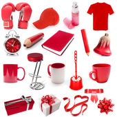 Different isolated objects red color — Stock Photo