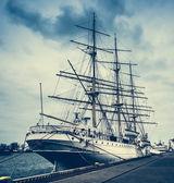 Polish ship docked in Gdynia — Stock Photo