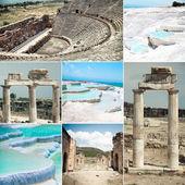 Pamukkale and Hierapolis ruins — Stock Photo