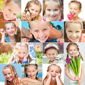 Photo collage of a little girl — Stock Photo