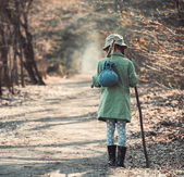 Little girl  in the forest photo  — Stock Photo