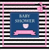 Baby girl Birthday card — Stock Vector