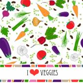Recipe card template with text space surrounded by fresh vegetables — Stock Vector